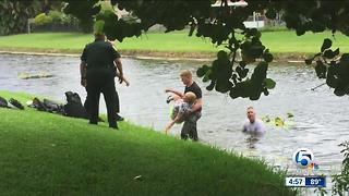 Palm Beach County Sheriff's Office deputies find, rescue missing woman in canal - Video
