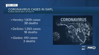 Covid-19 cases in Florida as of August 13th