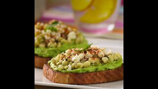 Avocado and White Corn Toast