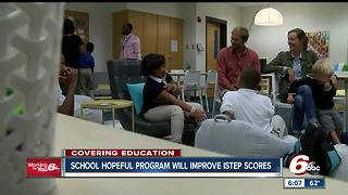 Indianapolis elementary school hopeful ISTEP scores will improve following robust tutoring program - Video