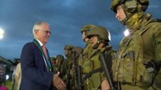 Malcolm Turnbull Sends Holiday Wishes to Australian Troops - Video