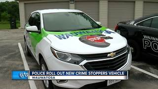 Wauwatosa Police roll out new Crime Stoppers vehicle - Video