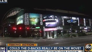 Uh-oh…Arizona Diamondbacks sue Maricopa County - Video