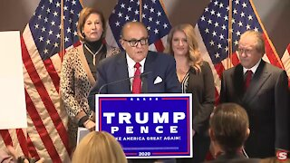 Rudy Giuliani Sidney Powell and Trump Legal Team Conference 11.19.2020