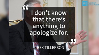 Tillerson: Trump Won't Apologize For Sharing Intelligence With Russians - Video