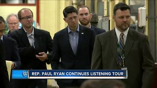 Paul Ryan continues listening tour in Greendale - Video