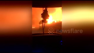 Napa Valley residents brave wildfires to evacuate home - Video