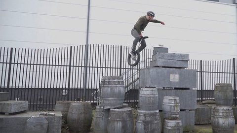 World Record Holding Unicyclist Shows Off Incredible Skills Including Jumping Over One Metre Tall Platform