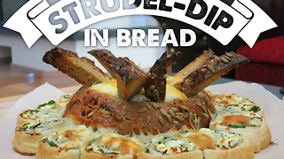 Strudel dip in bread bowl recipe - Video