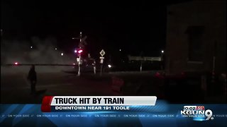 LIVE: Train collides with truck in downtown Tucson