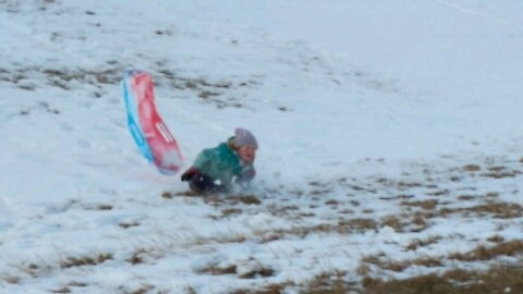 Ally's Sledding Wipe Out
