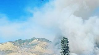 Fast-Moving Wildfire Burns Highland, California - Video