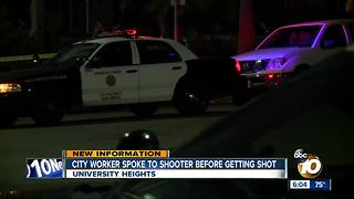 City worker spoke to shooter before getting shot - Video