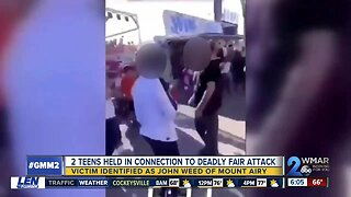 2 teens held in connection to deadly fair attack