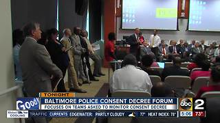 Baltimore Police consent decree forum Tuesday - Video