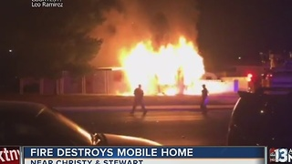 UPDATE: Neighbors blame mobile home fire on squatters - Video