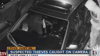 Car break-in caught on camera near Ann, Losee - Video