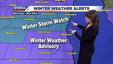 Winter Storm Watch issued for our northern counties Tuesday