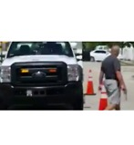 Revolver-Wielding Hialeah Man Shoots Tires of AT&T Trucks - Video