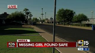 Missing 8-year-old girl from Mesa found safe - Video