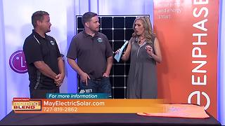 May Electric Solar talks to The Morning Blend about how solar energy can be a life saver during a hurricane - Video