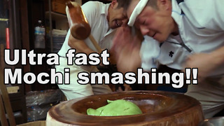 Ultra Fast Pounding Gives Mochi A Perfect Texture - Video