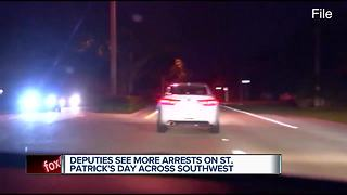 Deputies see increased arrests on St. Patrick's Day Across Southwest - Video