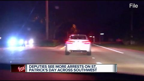 Deputies see increased arrests on St. Patrick's Day Across Southwest