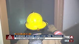 Condemned building used for fire training - Video
