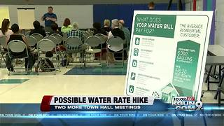 Town hall to discuss possible water rate hikes - Video