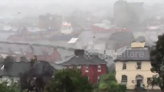Ophelia winds batter Cork - Video
