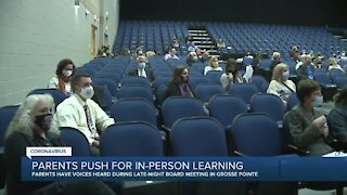 Parents push for in-person learning in Grosse Pointe schools