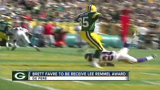 Favre to receive Lee Remmel sports award - Video