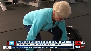 75-year-old deadlifts 110 pounds, second chance at life