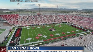 Cougars take on the Aztecs in the Las Vegas Bowl - Video