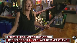 Get ready for a cold, wet New Year's Eve - Video