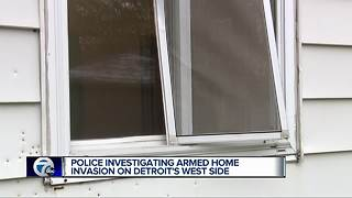Police investigating armed home invasion on Detroit's west side - Video