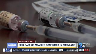 Third measles case reported in Pikesville area within two weeks