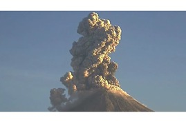 Colima Volcano Spouts off Twice - Video