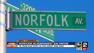 18-year-old fatally shot in northwest Baltimore - Video