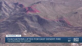 Evacuations lifted for East Desert Fire