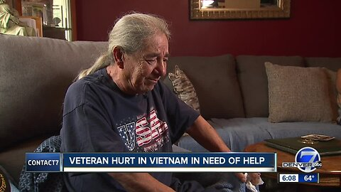 Disabled Vietnam veteran asking for help after multiple ailments left him unable to use his bathtub