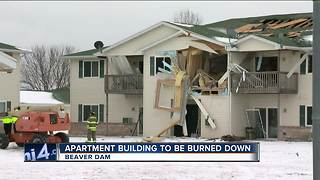 Beaver Dam apartment building to be torched following deadly explosion