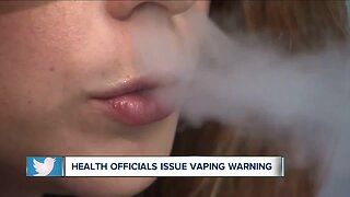 Health officials issue warning about vaping