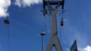 100 People Trapped Mid-Air as Cologne Cable Car Line Breaks Down - Video