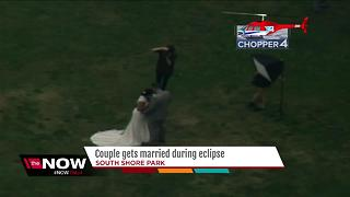 Couple married at South Shore Park during the eclipse - Video