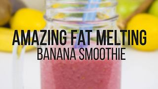 Amazing fat-melting banana smoothie - Video