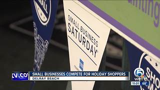 Small businesses compete for holiday shoppers