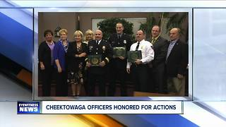 Cheektowaga police honored after Dollar General shooting - Video