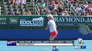 Chris Evert Raymond James pro-celebrity tennis event held in Delray Beach - Video